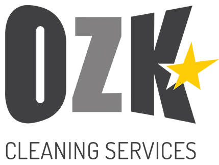 OZK Cleaning Services logo with tagline